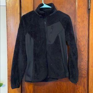 Black fuzzy Columbia jacket